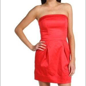 French Connection Coral Red Tube Dress Size 2